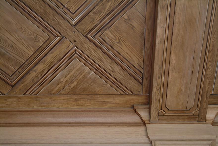 geleefd houten balken
