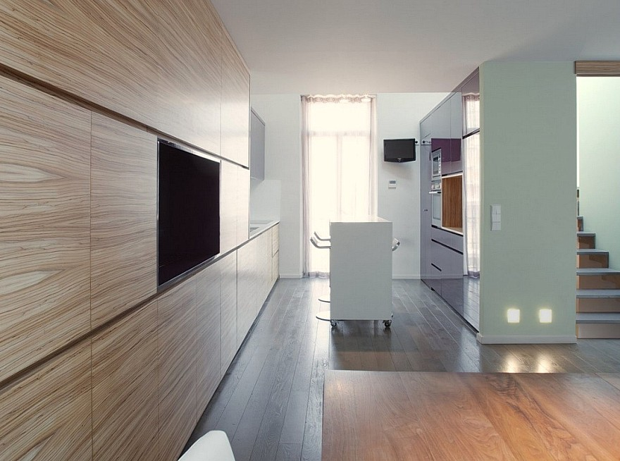 Modern interieurschilderwerk met maatkunstwerken gerealiseerd door ...