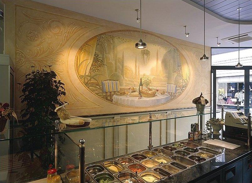 Enkele originele muurschilderingen uit het atelier van for Interieur horecazaken