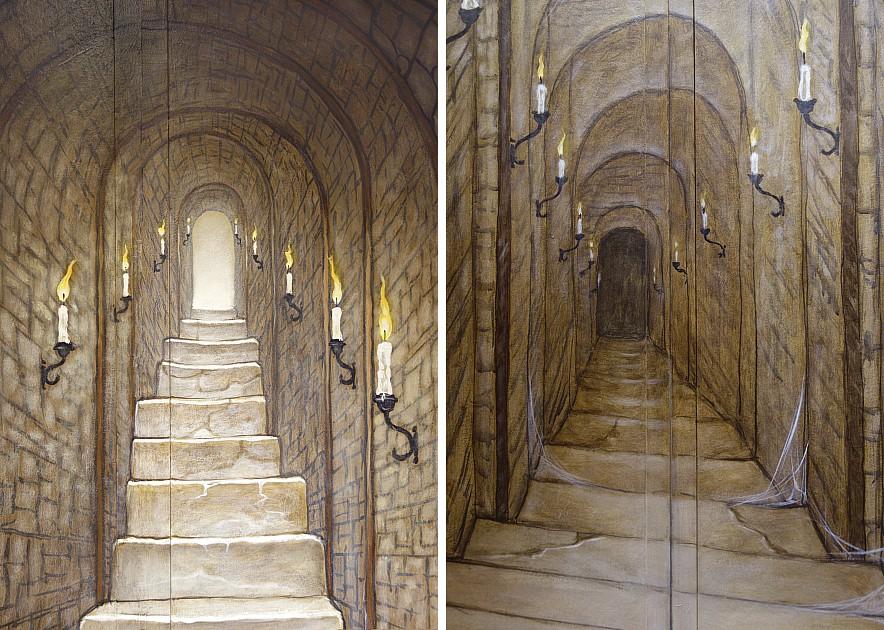 Muurschilderingen van het atelier van hoef uit het jaar 2014 pagina 7 - Beneden trap ...