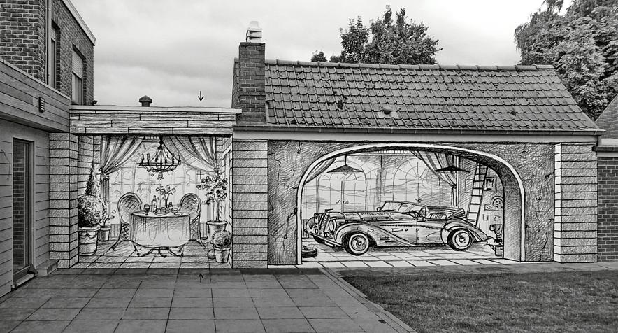 Muurschilderingen portretten en kunstwerken op maat van het atelier van hoef uit het jaar 2017 - Ontwerp muurschildering ...