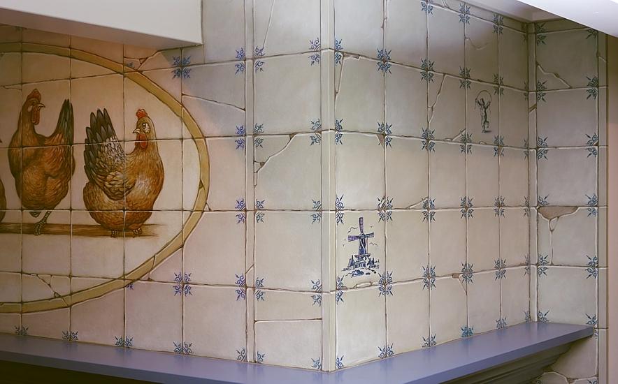 Oud Hollandse Tegels : Oud hollandse tegels keuken: witjes antiek oud hollandse 3 tinten