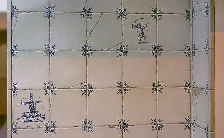 Oud Hollandse Tegeltjes : Oud hollandse tegels keuken tegeltjes behang oud hollandse