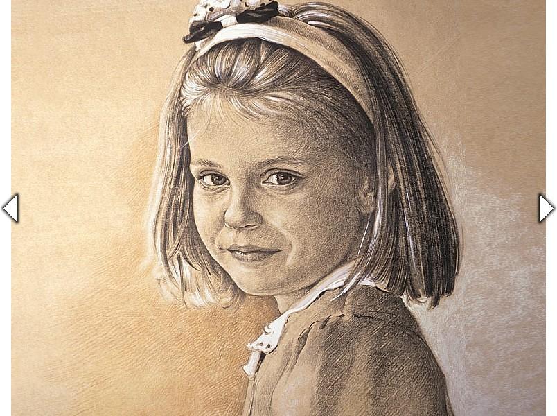 Kinderportret van een zesjarig meisje uit het atelier van hoef - Een kamer van een meisje ...