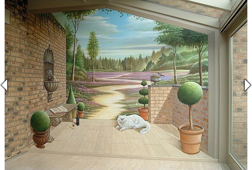 Een extra ruimte brengende muurschildering uit het atelier van hoef - Organiseren ruimte voor een extra ...